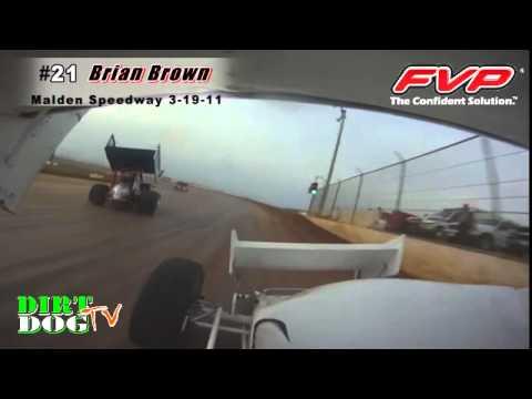Brian Brown #21 FVP Sprint Car | Malden Speedway In-Car Hot Laps | 3-19-22