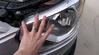 Ford Transit 350 XLT 2015-2017 Headlight Bulb Replacement - Easy!