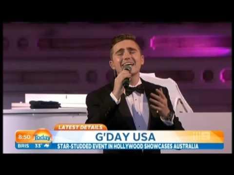 Harrison Craig & Seal @ G'Day USA Today Show (Ch 9)  29 Jan 2016