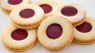 ПЕЧЕНЬЕ с ДЖЕМОМ - тает во рту  Рождественское печенье с джемом  печенье с вареньем