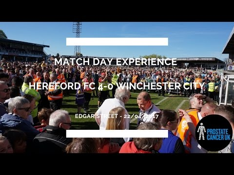 Groundhop at Edgar Street - Hereford FC vs. Winchester City - CHAMPIONS!! PITCH INVASION!!