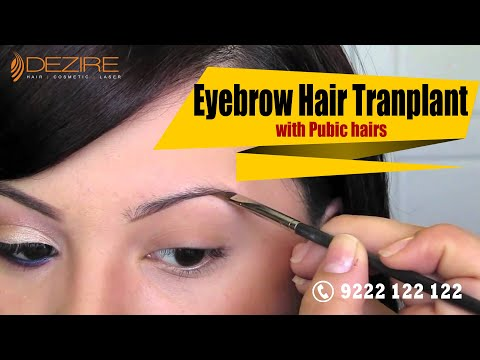Eyebrow Hair Transplant with Pubic Hairs at Dezire Clinic, Pune, India
