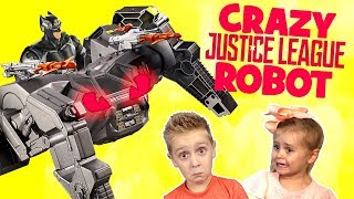 Crazy Justice League Movie Toys Robot Attacks the KIDS! Toy Test by KIDCITY