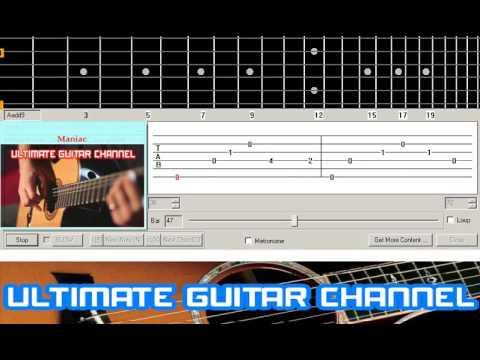 Guitar Solo Tab Maniac Michael Sembello Youtube
