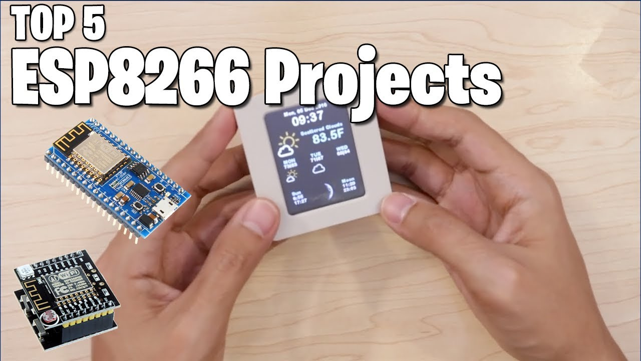 TOP 5 ESP8266 (NodeMCU) PROJECTS - Maker Tutor