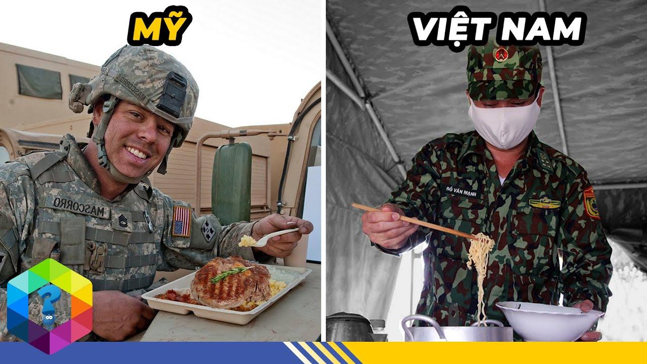 """""""Nhìn Trộm"""" Suất Ăn Của Bộ Đội Việt Nam Và Thế Giới - Nước Nào Ăn Ngon Nhất? [Top 1 Khám Phá]"""