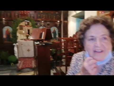 Ο εσπερινός στο εκκλησάκι της Παναγιάς της Μυρτιώτισσας