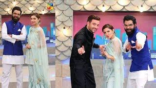 Mahira Khan &  Mikaal Zulfiqar In The Eid Special Aftermoon Show With Yasir