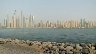 Timelapse Dubai JBR - from Palm Jumairah