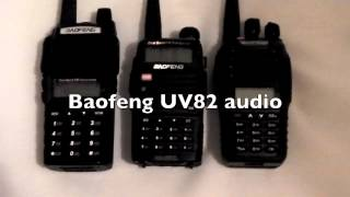 Baofeng UV82 UV5RC UVB5 audio comparison