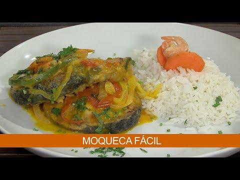 MOQUECA FÁCIL E TORTA DE BATATAS COM BACON