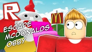 ESCAPE McDONALDS?? Roblox Obby