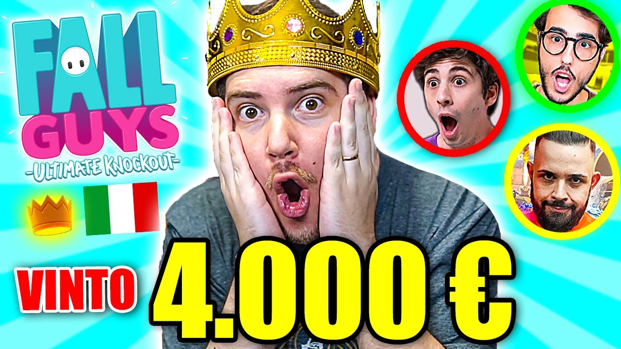 3 al MONDO! HO VINTO 4.000 EURO al TORNEO di FALL GUYS!!