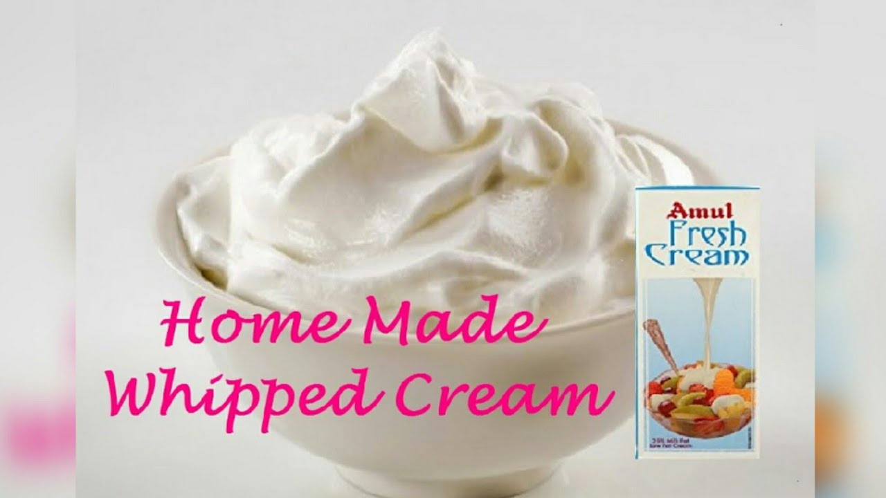 Whipped Cream from Amul Fresh Cream|Whipped Cream at Home using Hand  Whisker|Pretty Twin Girls|LS