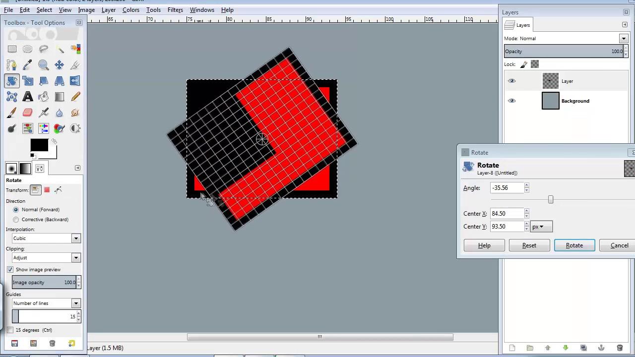 GiMP Pixel Art Set-up - YouTube