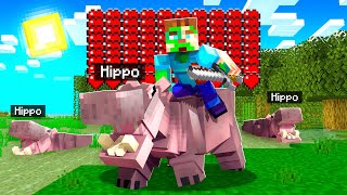 TAMING the WORLDS STROΝGEST ANIMAL in Minecraft!