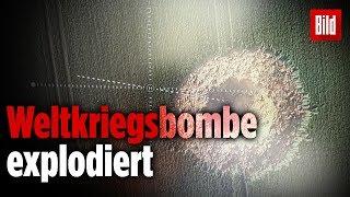 So sieht es aus, wenn eine Weltkriegsbombe explodiert