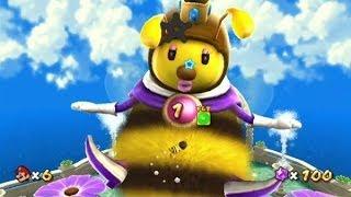 Super Mario Galaxy 100% Walkthrough - Part 2 - Honeyhive & Loopdeeloop Galaxy