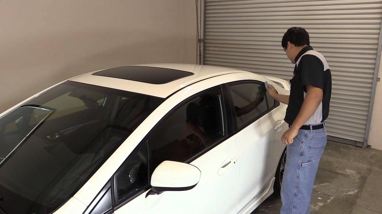 Pro Design Side Window Visors Install Honda Civic Sedan