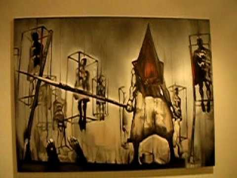 The Real Silent Hill 2 Pyramid Head Painting Youtube