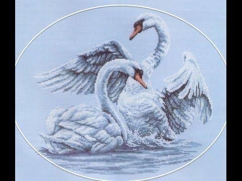 Лебединая верность вышивка крестом схема