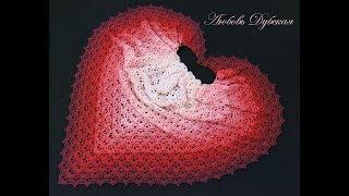 Красивая шаль. Мастер класс. Beautiful shawl. Master Class.