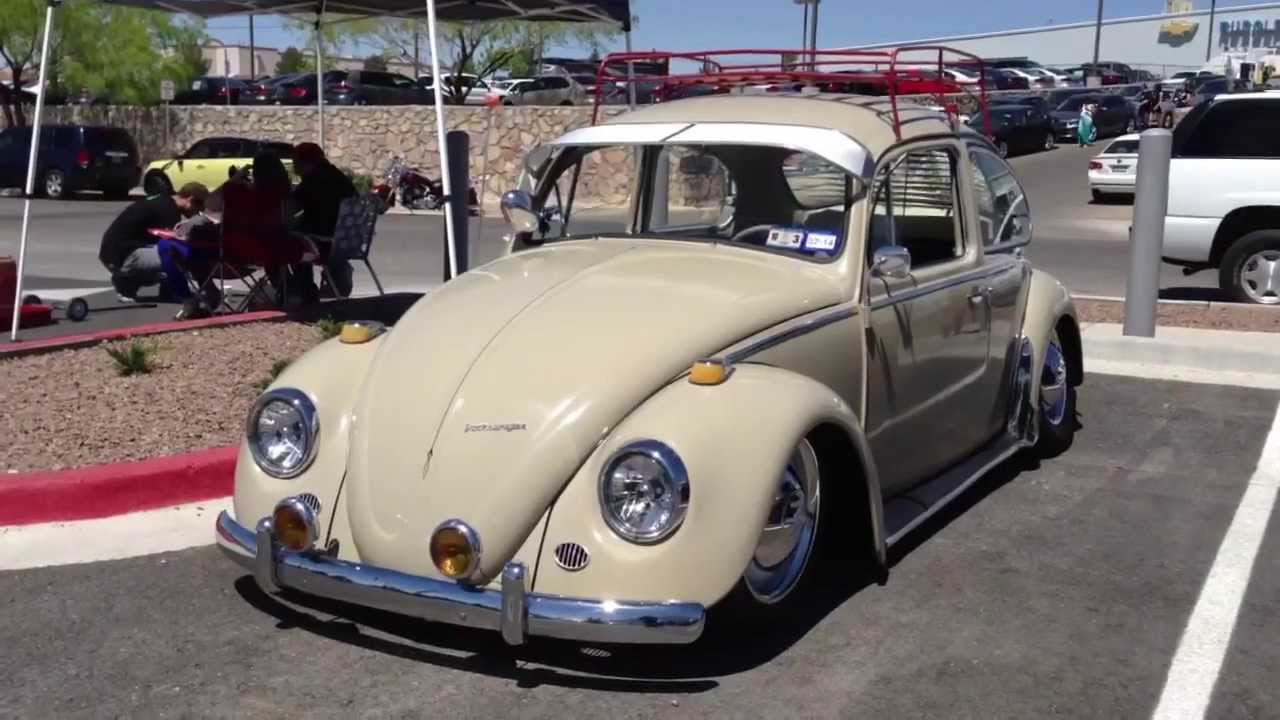 Lowered Volkswagen Beetle With A Roof Rack At El Bugo Car