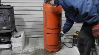 Make A Great Waste Oil And Wood Burning Stove Heater (part 2)