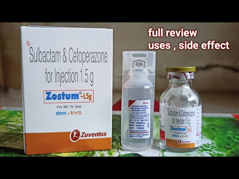 cefoperazone & salbactum for injection | jainy education | zostum 1.5 gm