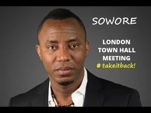 SOWORE ATTENDS  LONDON TOWN HALL MEETING