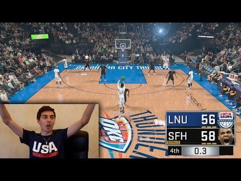 RUSSELL WESTBROOK HALF COURT GAME WINNER AT THE BUZZER! NBA 2K17