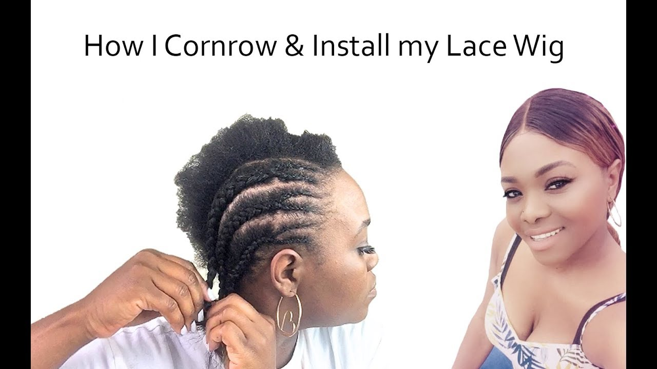 How to Cornrow & install a lace wig! NO lumps! NO glue!