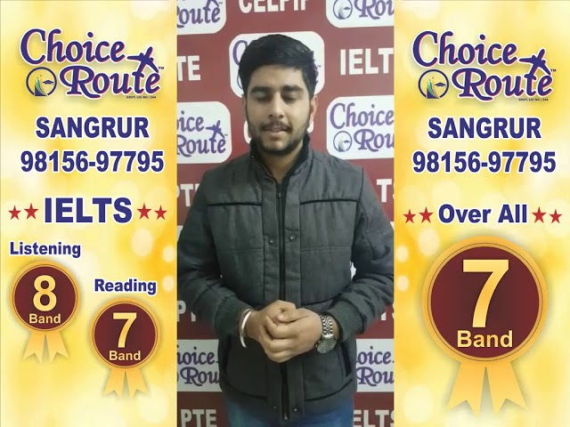 Congratulations RUBAL SHELLY - Choice Route is the Best PTE and IELTS institute in Sangrur City.