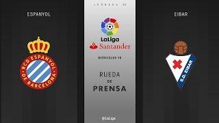 Rueda de prensa Espanyol vs Eibar