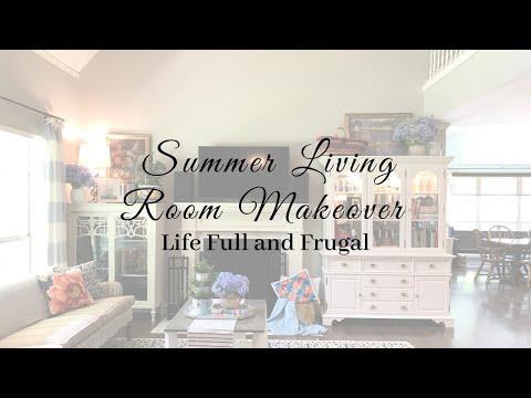 Summer Living Room Makeover
