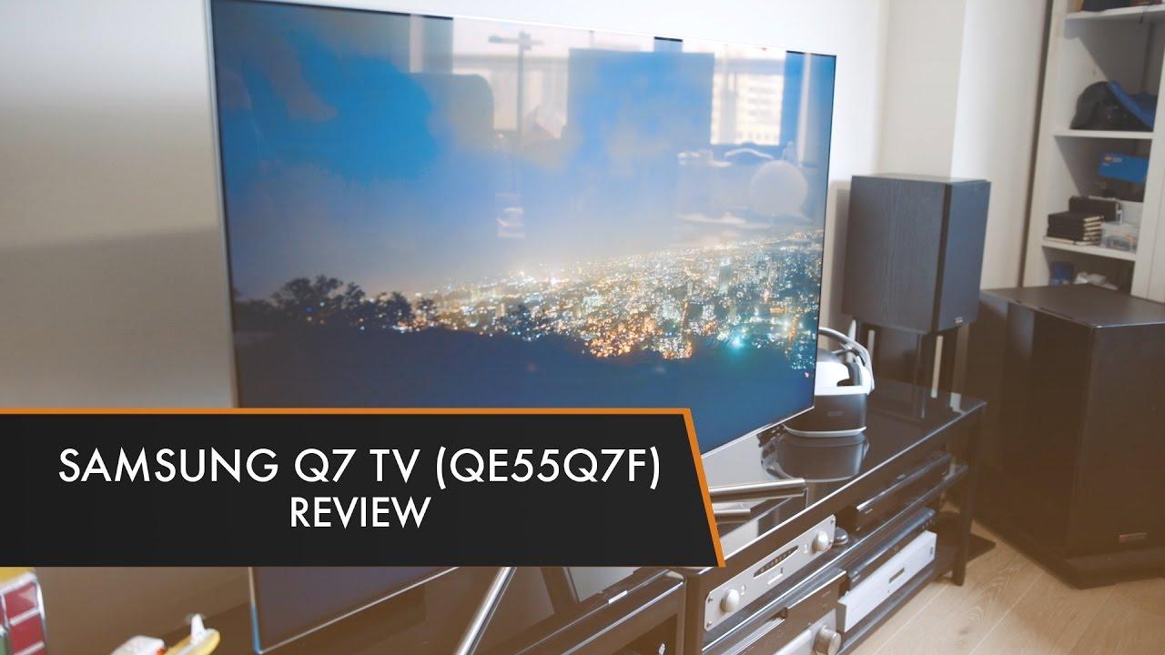 samsung q7 tv qe55q7f review youtube. Black Bedroom Furniture Sets. Home Design Ideas