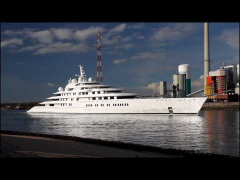 Lürssen Giga Yacht AZZAM | the largest in the World | Weser höhe Berne/Farge