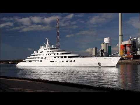 Lürssen Giga Yacht AZZAM | the largest in the World | Weser höhe Berne/Farge
