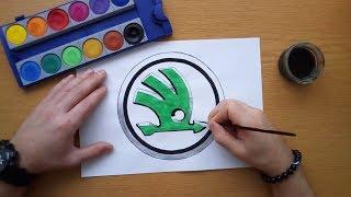 How to draw the Skoda logo