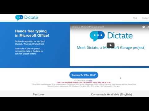 Как вводить текст голосом в программах Microsoft Office. Надстройка Dictate