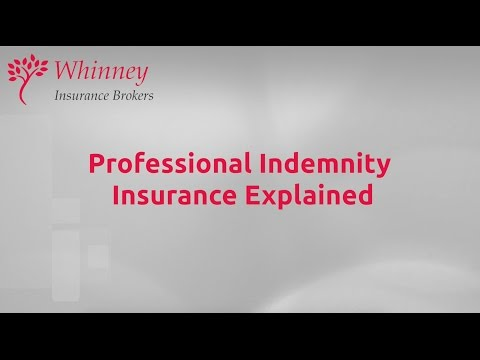 Professional Indemnity Insurance Explained