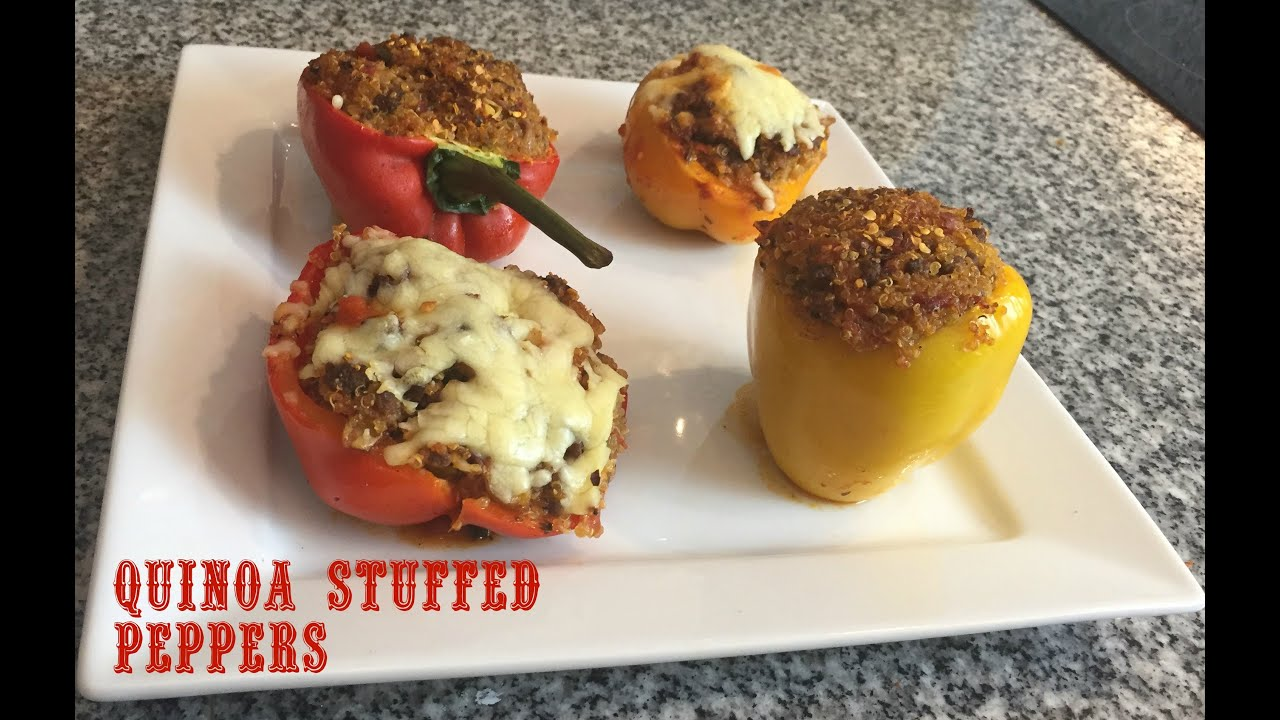 How to make Stuffed Peppers with Quinoa & Ground Beef ...