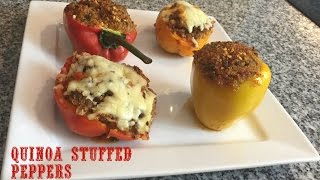 How To Make Stuffed Peppers With Quinoa & Ground Beef