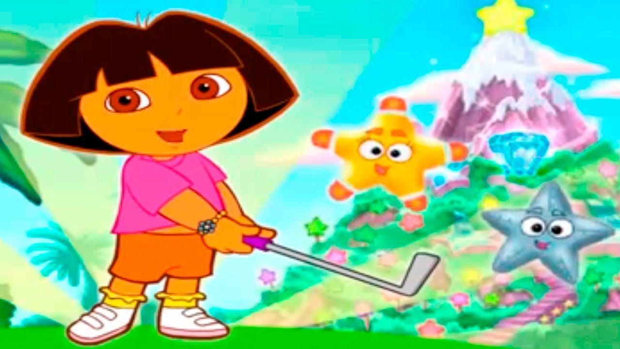 Dora's Star Mountain Mini-Golf Sports Game.