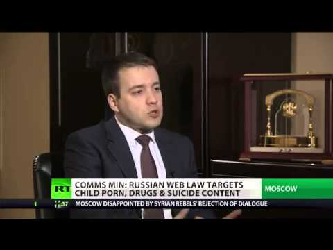 """Russia's communication minister: """"Russian web law targets child porn, drugs & suicide content'"""