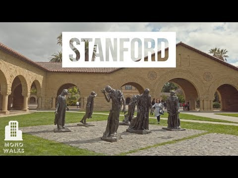 【4K】 Walk around Stanford University in Palo Alto