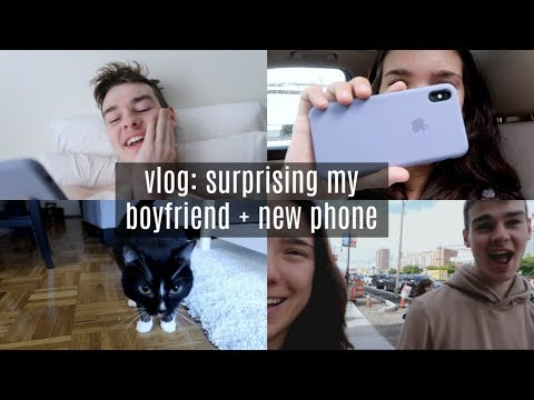 vlog: surprising my boyfriend + new phone, iphone Xs Max thumbnail