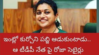 ఇంట్లో కుర్చోని పబ్జి ఆడుకుంటాడు.. టీడీపీ నేత పై రోజా సెటైర్లు | Political Bnech