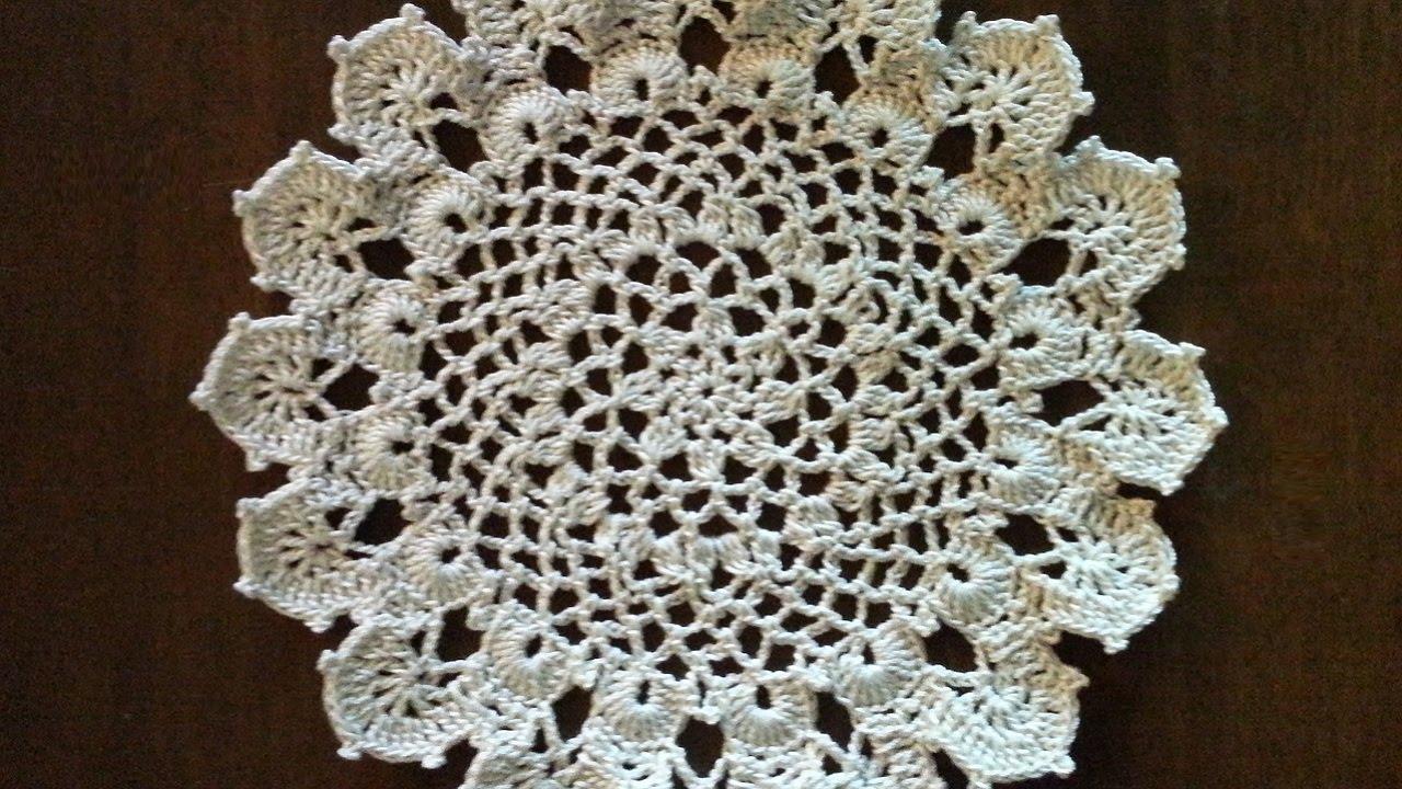 Crochet Doily Medium Size Doily Easy Pattern Youtube