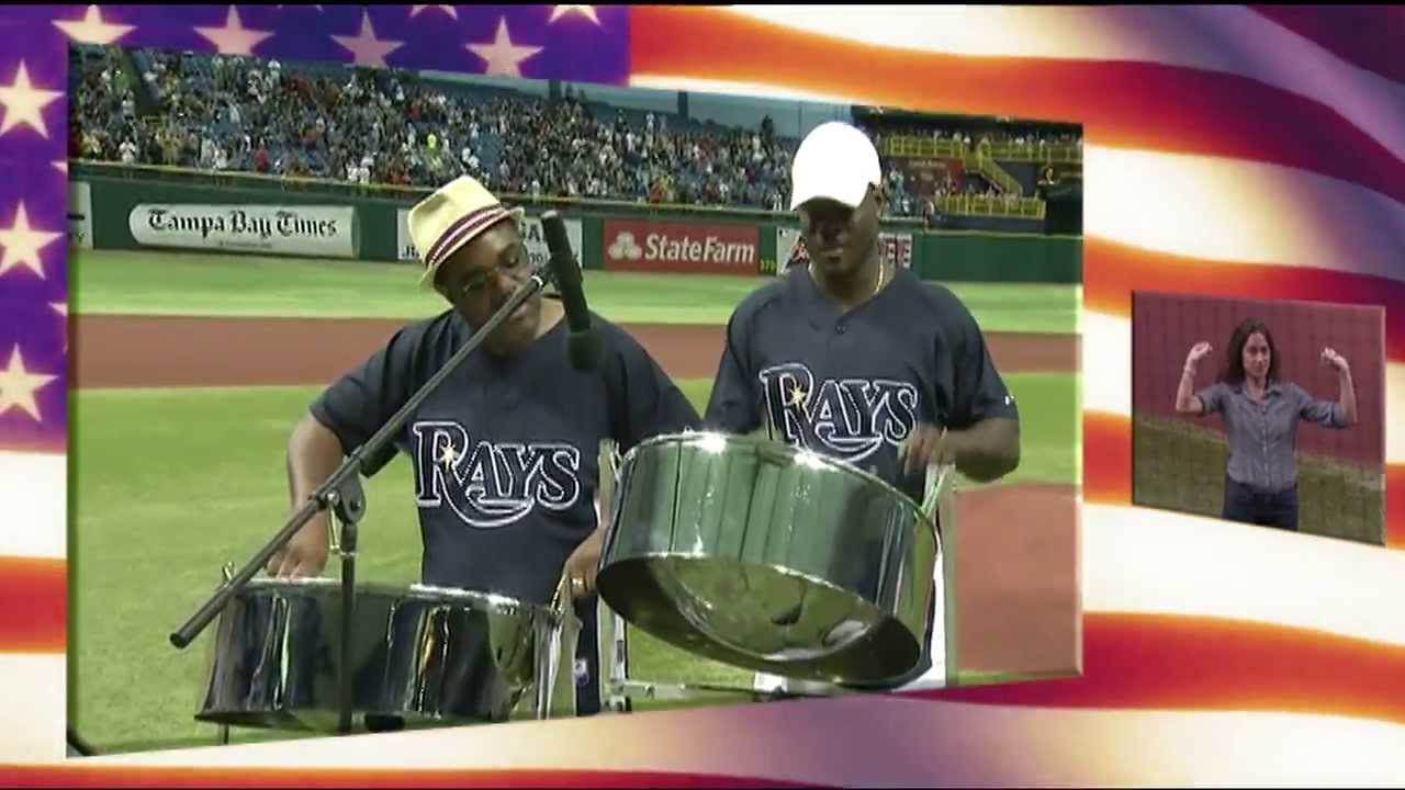steel drums plays the star spangled banner national anthem at rays baseball game youtube. Black Bedroom Furniture Sets. Home Design Ideas
